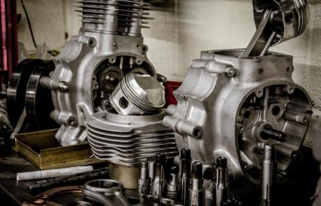 JHS Racing motorcycle engine building