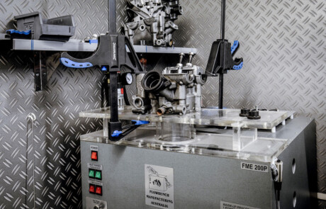 Motorcycle engine tuning flow bench