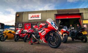 JHS Racing motorcycle workshop Bristol