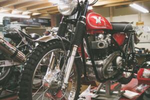 Classic motorcycle restoration