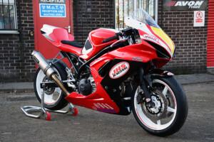 Suzuki SFV650 Minitwin race bikes