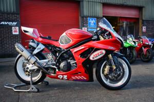 JHS Racing Suzuki SFV650 Supertwin race bikes