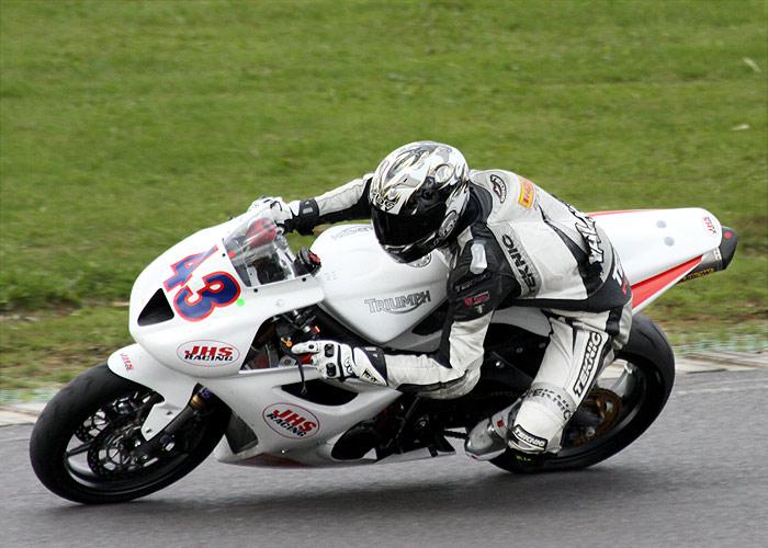 Aaron Walker JHS Racing Triumph 675.